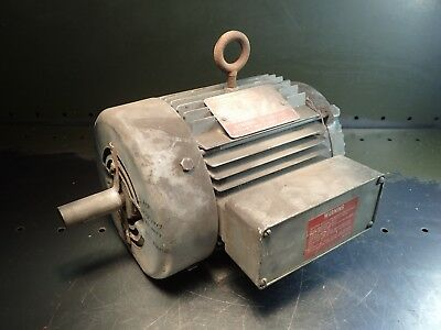 Ge Triclad 5k145al1321 3hp Electric Motor 230460v 8.24.1a Fr. 145t 78 Shaft
