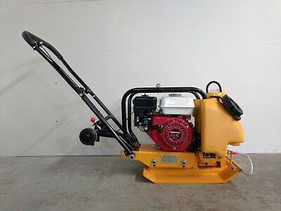 Hoc Hc60 14 Inch Plate Compactor Honda Gx160 5.5 Hp Water Wheel Kit Warranty