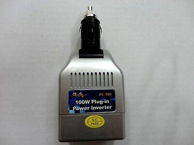 100 Watt DC to AC Power Inverter, 12V DC-110/120AC, for 12V DC Cigarette Lighter