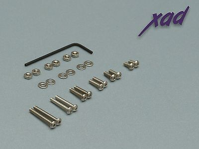 CARTRIDGE MOUNTING SCREWS button head stainless steel for all tonearms