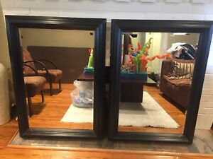 FREE - Two Wood Framed Mirrors