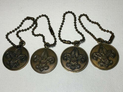 Vintage Boy Scout Keychain Lot (4) Scout Oath
