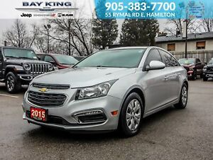 2015 Chevrolet Cruze BLUETOOTH, BACK UP CAM, TOUCHSCREEN, TINTED