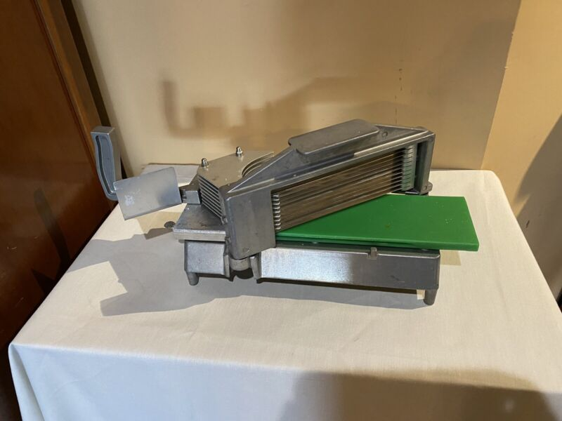 """Commercial Tomato Slicer 3/16"""" Stainless Steel Blade Tomato Cutting Machine"""