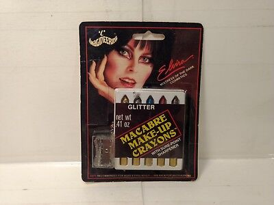 Elvira Cosmetics 1987 Imagineering Glitter Macabre Makeup Crayons   h80 - Elvira Makeup