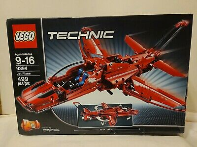 NEW LEGO TECHNIC JET PLANE 9394 FACTORY SEALED 499 PIECES BUILDING TOY 9-16