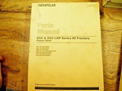 Caterpillar Cat D5c Tractor Parts Manual 9dl 6zl