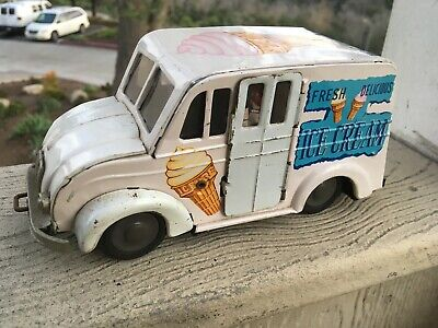 Vintage HTC JAPAN TIN LITHO FRICTION SPECIAL ICE CREAM TRUCK