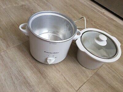 Proctor Silex 1.5 Qt Slow Cooker Removable Dishwasher Safe Stoneware, Glass Lid