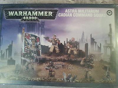 WARHAMMER 40K ASTRA MILITARUM CADIAN COMMAND SQUAD - NEW & SEALED