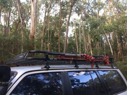 Tradesman oval alloy series roof rack Patrol landcruiser