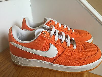 Nike Air Force One Sneakers 8.5M Orange Great Condition No Insoles