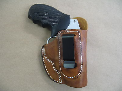 Ruger SP101 Revolver Leather IWB In The Waistband Concealed Carry Holster TAN RH Revolver Concealment Holsters