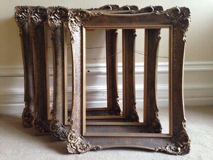 gilt carved picture frames - set of 4