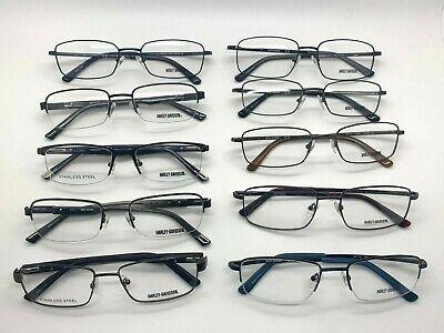 Harley Davidson Metal Frames Wholesale lot Black Gunmetal glasses Case (Wholesale Prescription Glasses)