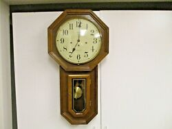 Vtg Hamilton USA Greenfield Manor 3-Key Wind Regulator Wall Clock #86-W Germany