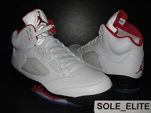 NEW-2013-DS-Nike-Air-Jordan-Retro-Black-White-FIRE-RED-V-5-Sz-7-5-15