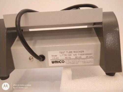 Unico L TTR 100 Test Tube Rocker Mixer 8 Tube Vials T1609207 115 AC
