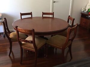 Antique Mahogany table + chairs Floreat Cambridge Area Preview