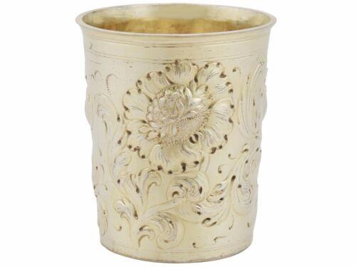 Antique German Silver Gilt Beaker - Pre-1800