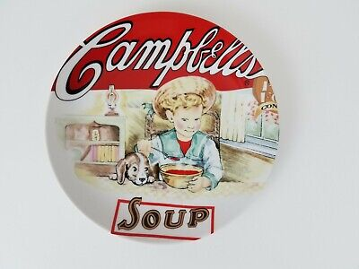 Campbells Heritage Collection Boy & Dog Vintage Soup Label 2003 Plate Excellent Campbells Soup Label