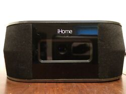 iHome Dual Alarm Stereo Clock Radio-iBT38 Bluetooth USB Charging Alarm --(USED)
