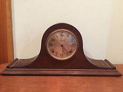 Antique Vintage Ingraham Tambour Mantel Clock