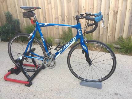pinarello road bike with wind trainer Barwon Heads Outer Geelong Preview