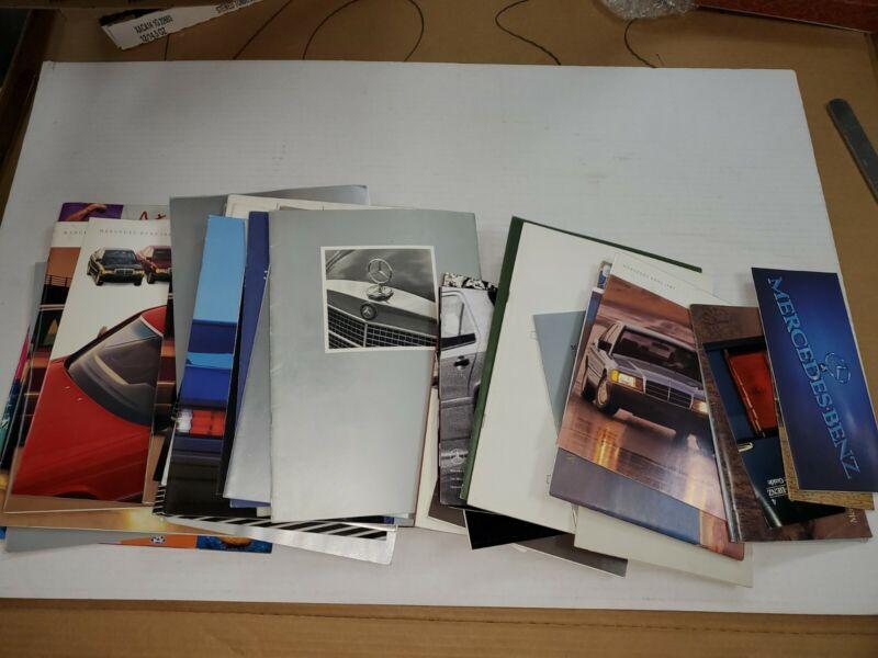 1970s 1980s 1990s 2000s Mercedes-Benz brochure lot of 45+