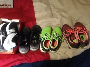 Nike, new balance shoes, size 9.5-10