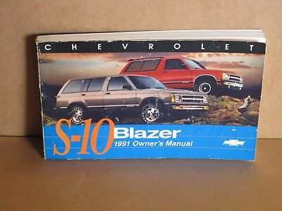 91 1991 Chevrolet S-10 Blazer owners manual ASE Certified GM