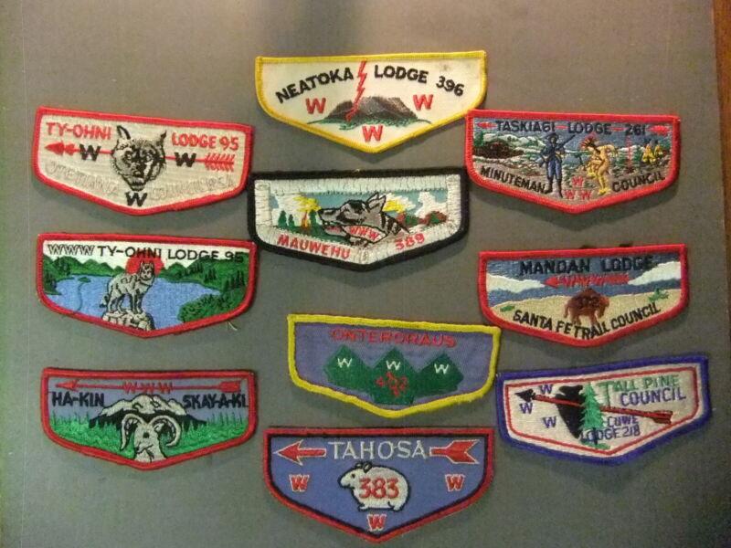 Boy Scout OA 10 different OA flaps 4722JJ