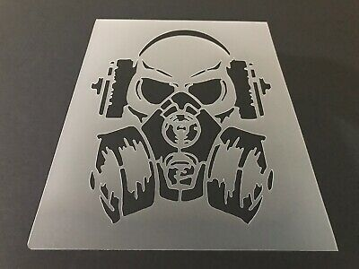 Skull #47 Stencil 10mm or 7mm Thick, Crafts, Tattoo, Skeleton, Halloween - Halloween 10