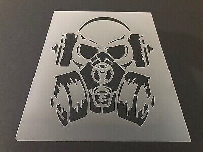 Skull #47 Stencil 10mm or 7mm Thick, Crafts, Tattoo, Skeleton, - Halloween Skull Stencils