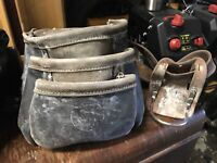 Circle brand leather work pouch and belt also with dewalt pouch