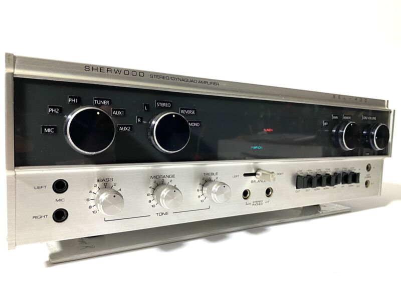 Sherwood SEL-400 Stereo Integrated Amplifier AUDIOPHILE SERVICED 100% EXCELLENT!