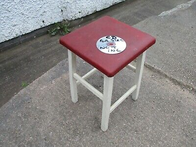VINTAGE  WOODEN  STOOL.  FREE  DELIVERY.