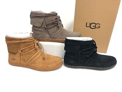 - UGG Australia Reid Chestnut Black Slate Ankle Boot sizes 1019129 Suede Bootie