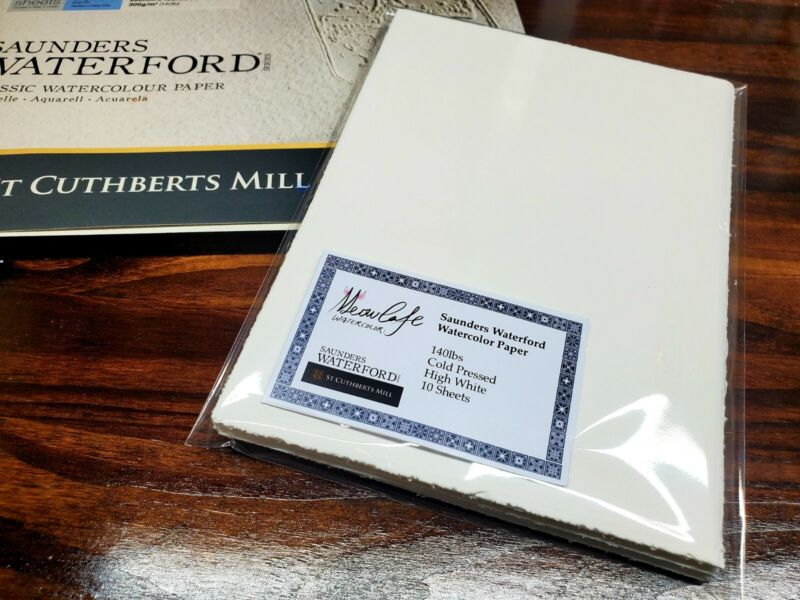 Saunders Waterford Watercolor paper 100% Cotton 140lbs Cold Pressed Pack Of 10