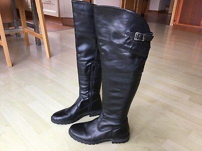 Damen Overknee Stiefel, Tamaris, Gr. 38, schwarz