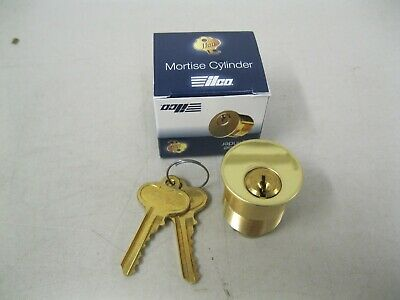 Brand New Ilco High Security Brass Mortisse Lock Cylinder With 2 Keymade In Usa