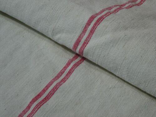 Antique European Feed Sack GRAIN SACK Red Stripe # 8203
