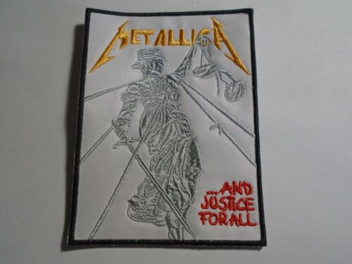 METALLICA AND JUSTICE FOR ALL EMBROIDERED PATCH