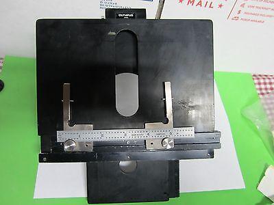 Olympus Stage Table Micrometer Bh-2 Microscope Part Optics As Is Binm2