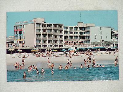 REHOBOTH BEACH LATE 1970's-90'S COLOR CHROME POSTCARD 'ATLANTIC SANDS HOTEL' EXL