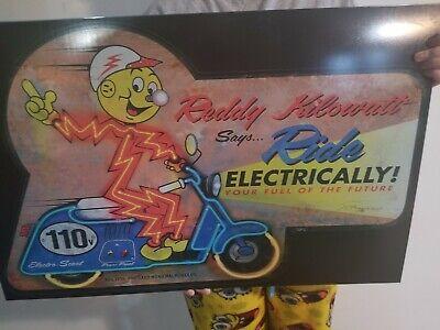 Reddy Kilowatt Electrician Electrical Tool Utility Retro Vintage Sign large 32in