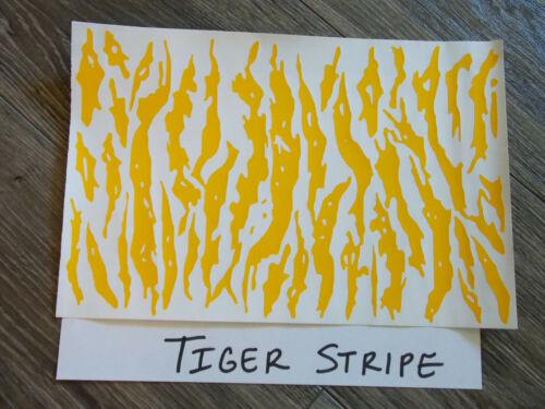 """Tiger Stripe  High Heat Vinyl Stencil 12"""" x 8"""" Unweeded"""