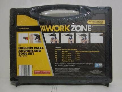 Workzone wall anchor set - brand new in original wrapping