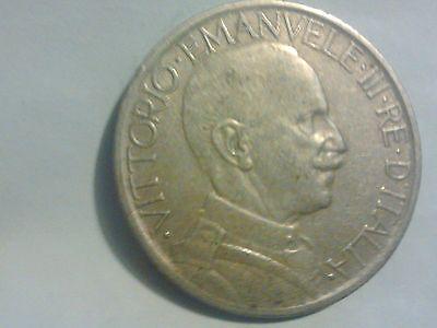 1924 ITALIAN ITALY VITTORIO EMANUELE III RE ITALIA BVONO DA 2 LIRE NICKEL COIN