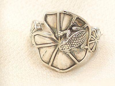 Estate Sterling Silver Barry Kieselstein Cord Frog Ring KC Studio 2011